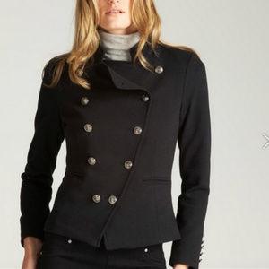 Romeo & Juliet Couture Black Ponte Military Blazer